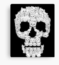 Skulls-Are For-Pussies Canvas Print