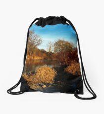 flaming shore I Drawstring Bag
