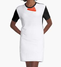 Duty Now For the Future - White on Clear Graphic T-Shirt Dress