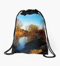 flaming shore III Drawstring Bag