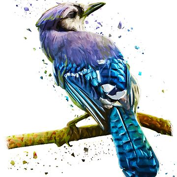 Beautiful Bird Colorful Graphic Art by GreensDream