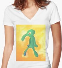 High Res Bold and Brash Repaint Women's Fitted V-Neck T-Shirt