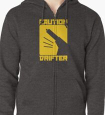 Caution Drifter (3) Zipped Hoodie