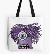 Purple Mandala Minion Monster Tote Bag