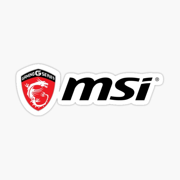 Logo MSI Sticker