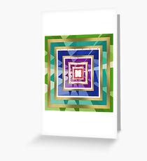 Geometric,multi pattern,multi color,modern,trendy,pattern Greeting Card