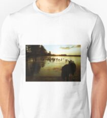Indy at the frozen pond. Unisex T-Shirt