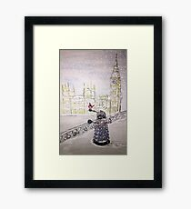 Winter Dalek Framed Print
