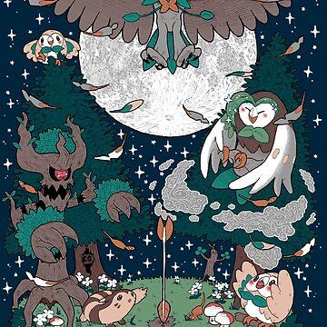 Starter's family: Decidueye by hinimochi