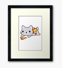 Cute Pizza Cat Framed Print