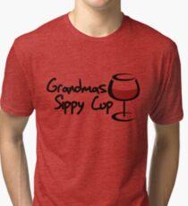 Grandmas sippy cup Tri-blend T-Shirt