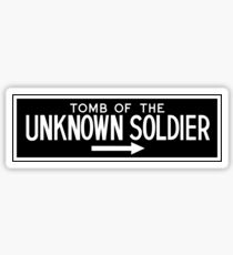 The Tomb of the Unknown Soldier, Arlington National Cemetery Sign, Washington DC Sticker