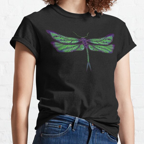 Dragonfly - Dark Colours Classic T-Shirt