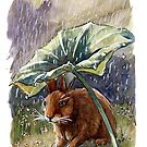Funny Rabbits - In the Rain 551 by schukinart