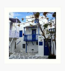 Picture Perfect Mykonos Art Print