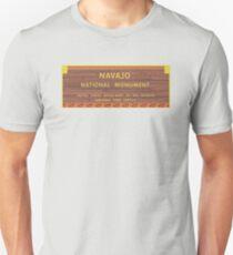 Navajo National Monument Sign, Arizona T-Shirt