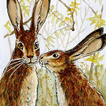 Funny Rabbits - Little Kiss 543 by schukinart