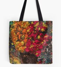 Two Tone Flower Abstraction Tote Bag