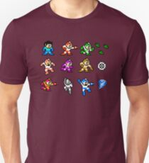MegaMan Regenbogen Slim Fit T-Shirt