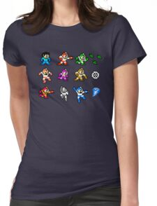 MegaMan Rainbow Womens Fitted T-Shirt