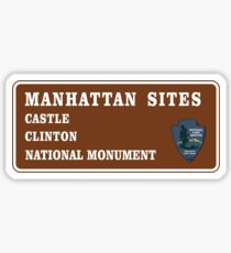 Castle Clinton National Monument Sign, New York Sticker
