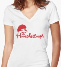 Puppet-fil-a Women's Fitted V-Neck T-Shirt