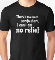 Hendrix Lyrics Typography Psychedelic Rock Poster Text T-Shirt