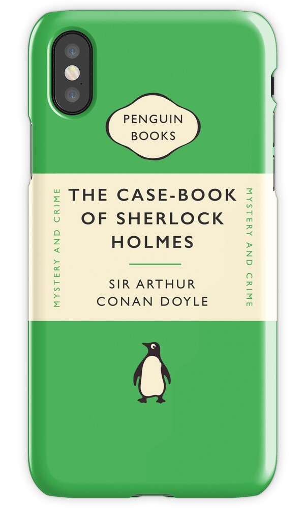 Penguin Book Cover Iphone Case : Quot penguin classics the case book of sherlock holmes iphone