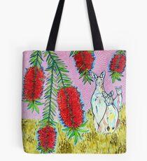 Kangaroos with Bottlebrush Tote Bag