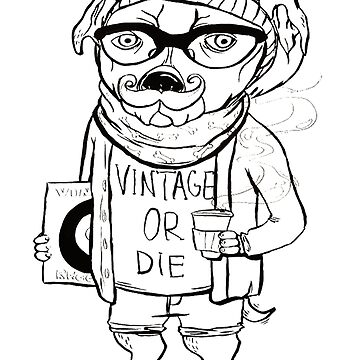 Hipster Dog by Tarrasque