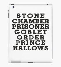 Stone Chamber Prisoner Goblet Order Prince Hallows iPad Case/Skin