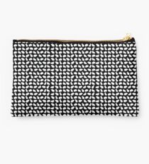 Bunny Pattern Black Studio Pouch