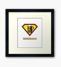 Beerman Superman Parody Framed Print
