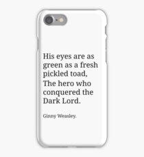 Ginny Weasley Poem iPhone Case/Skin