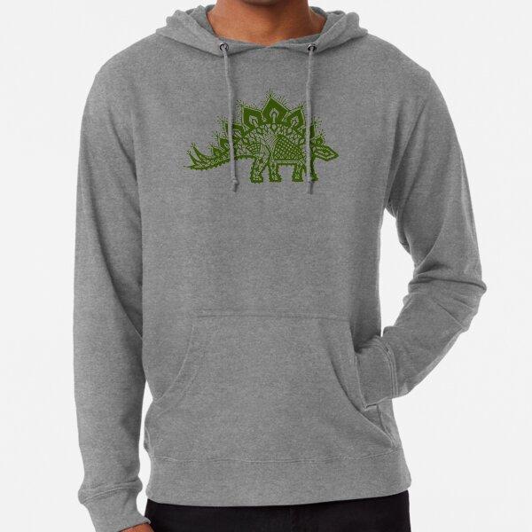 Stegosaurus Lace - Green Lightweight Hoodie