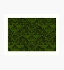 Stegosaurus Lace - Green Art Print