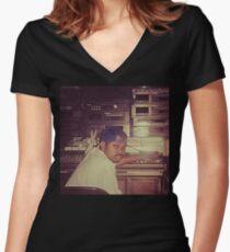 Screw Tape Nation Women's Fitted V-Neck T-Shirt