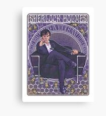 Sherlock Art Nouveau Canvas Print