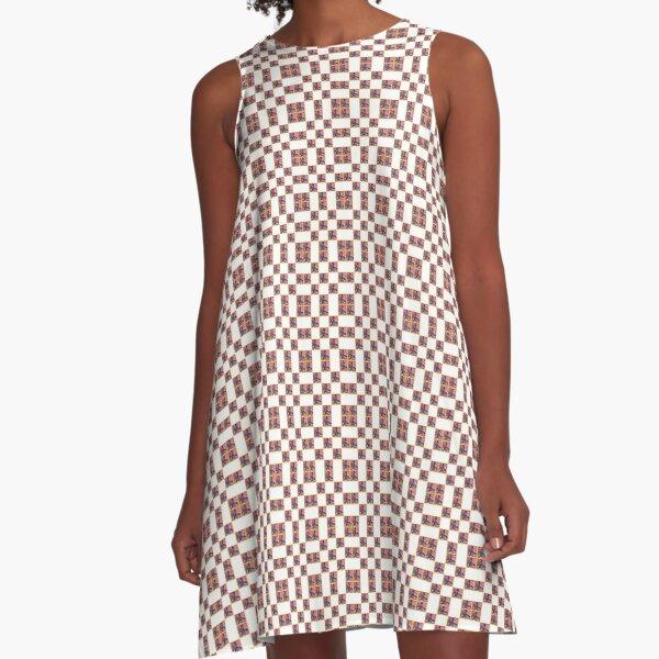 butterfly pattern A-Line Dress