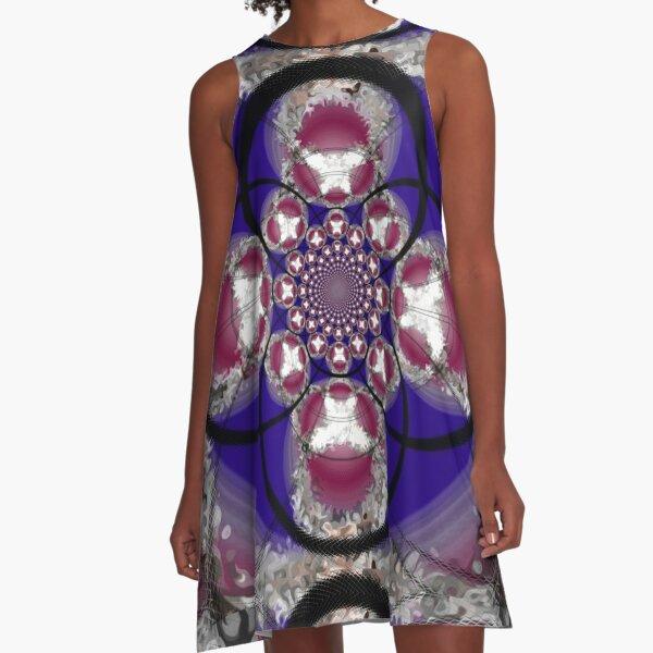 Ugoo Flower Spirals Pattern A-Line Dress