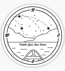 Paddle your own canoe Sticker