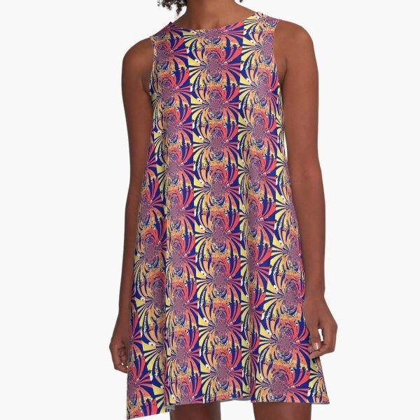 Digital Barf Pattern A-Line Dress