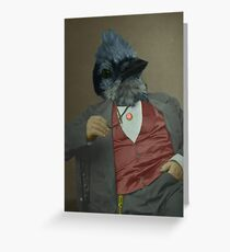 Gentlemen's club of exquisite plumage. Greeting Card