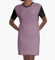 Mauve Graphic T-Shirt Dress