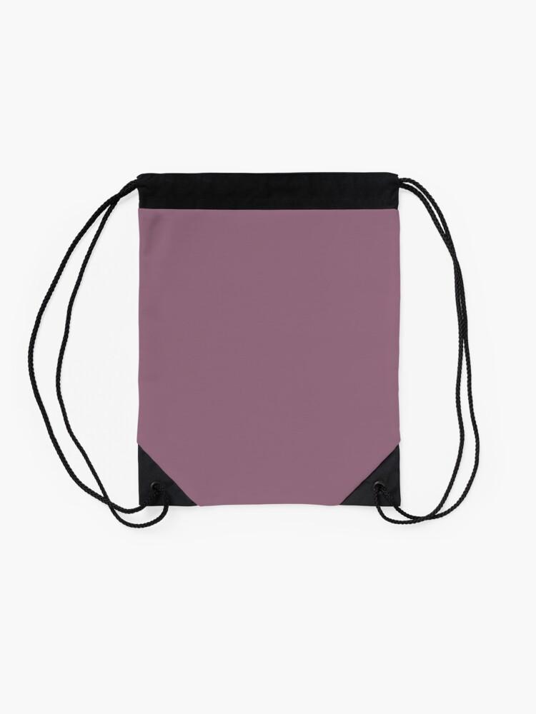Alternate view of Mauve Drawstring Bag