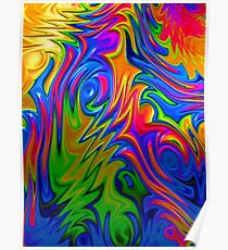 Psychedelic Rainbow Fractal Poster