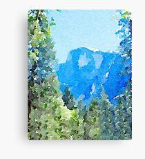 Yosemite Park Forest Canvas Print
