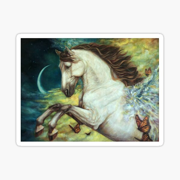 Eternity - Fantasy Pegasus horse with Butterfly Sticker