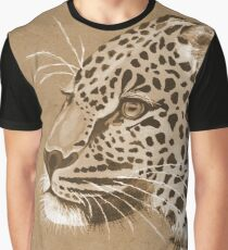 Sepia Leopard Graphic T-Shirt
