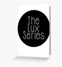 The Lux Series - Black Circle Greeting Card